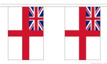 BRITISH WHITE ENSIGN BUNTING - 9 METRES 30 FLAGS